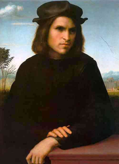 Франческо ди Кристофано Биджи(1484 — 1525) Портрет мужчины Portrait of a Young Man Louvre, Paris